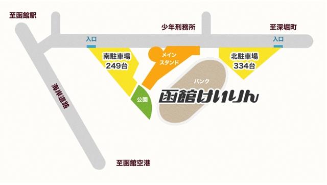 函館競輪周辺地図