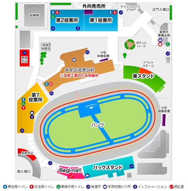 静岡競輪場内地図