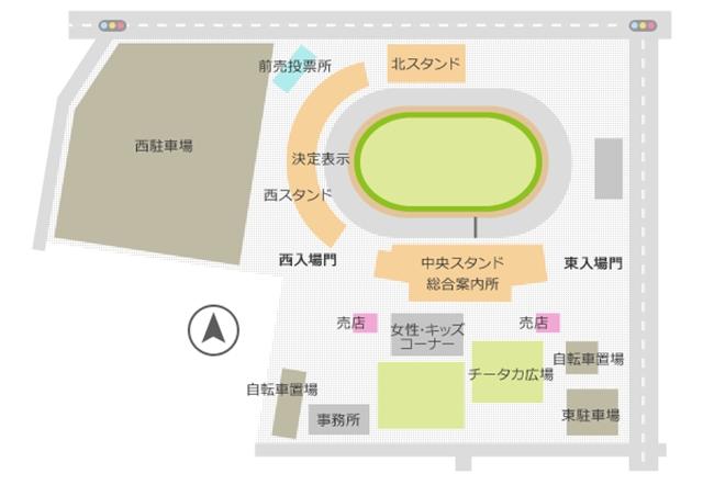 高松競輪場内地図