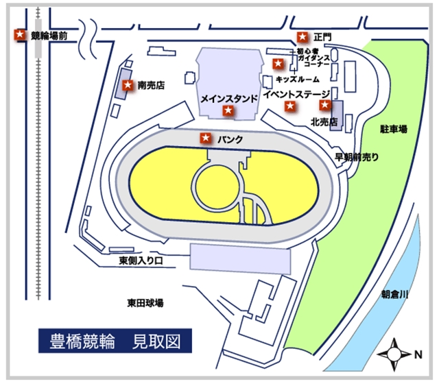 豊橋場内地図